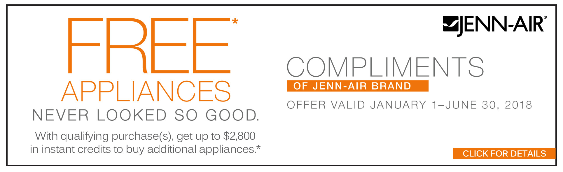 Jenn-Air Compliments Rebate Savings