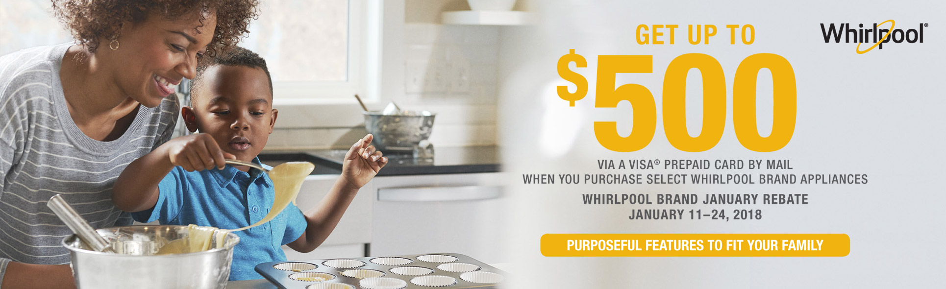 Whirlpool Package Savings up to $500