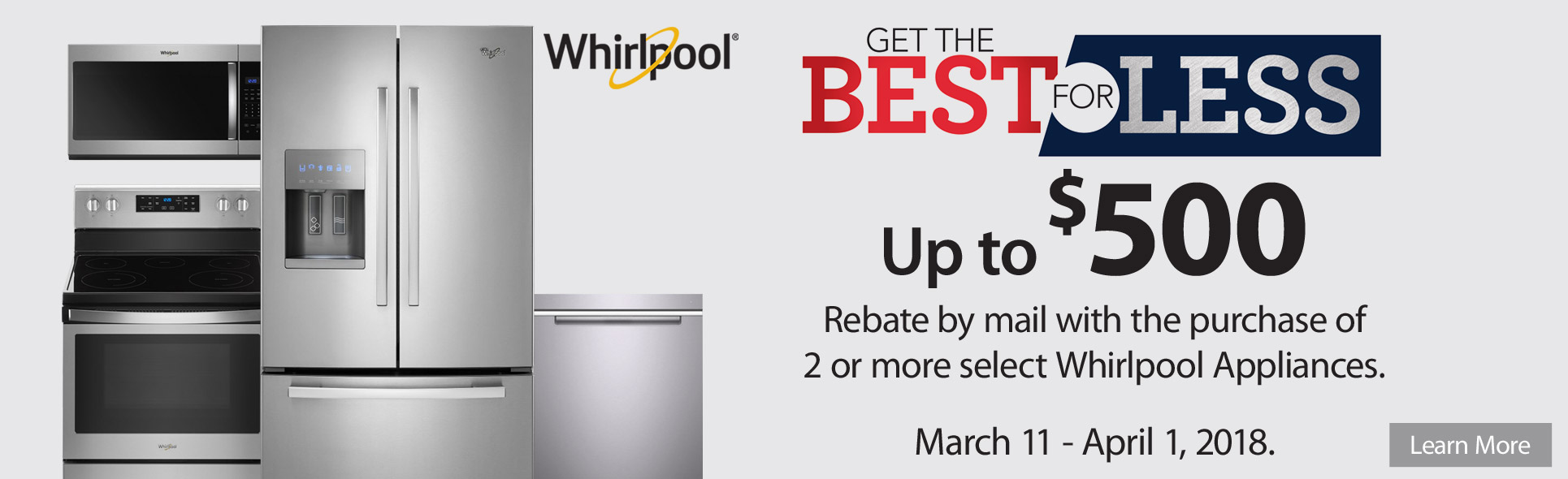 Whirlpool Best For Less- Save up to $500