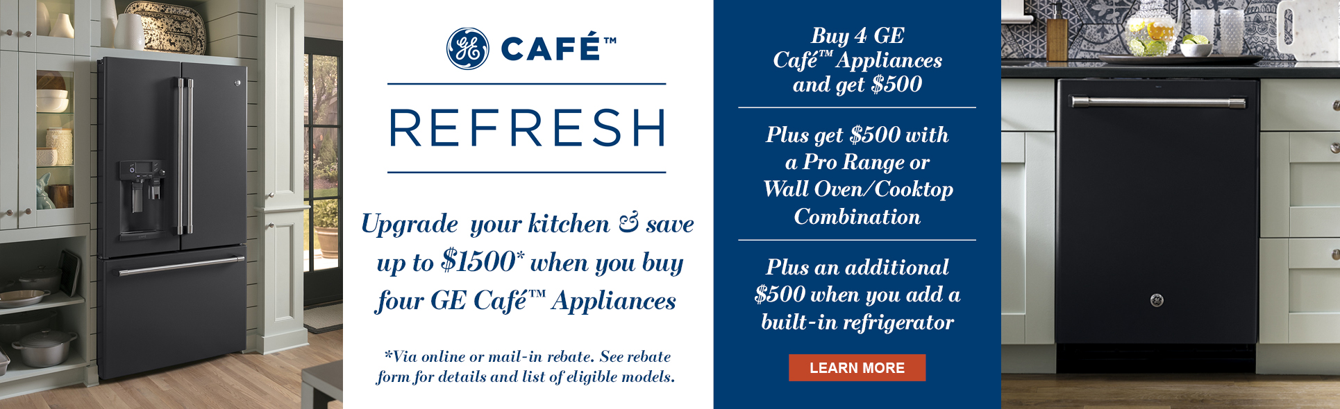 Save up to $1500 With Qualified GE Cafe Appliance Package purchase